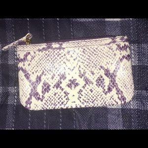 Snake Skin Purple Coin Purse💥NWOT💥